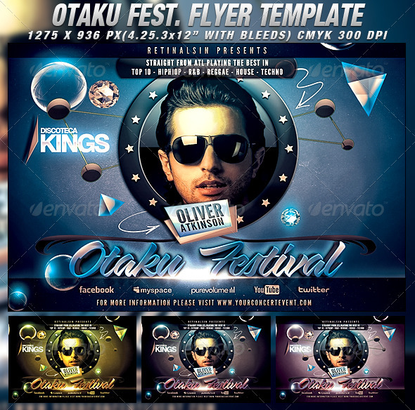 GraphicRiver Otaku Festival Flyer Template 2661584