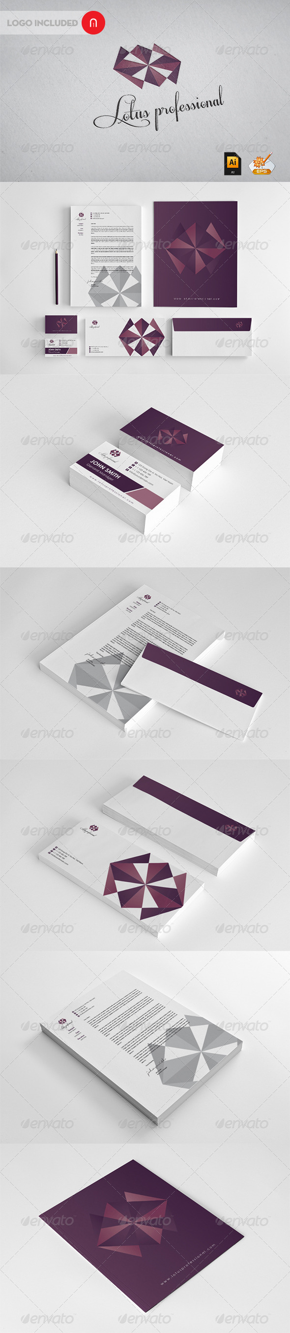 Lotus professional Corporate Identity - Stationery Print Templates