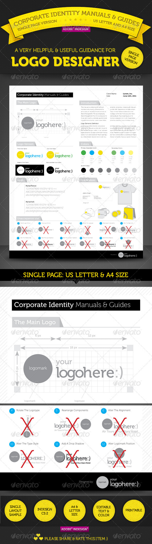 GraphicRiver Brand Manuals & Guides Single Page Version 295622