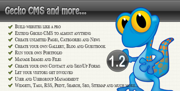 Gecko Content Management System - CodeCanyon Item for Sale