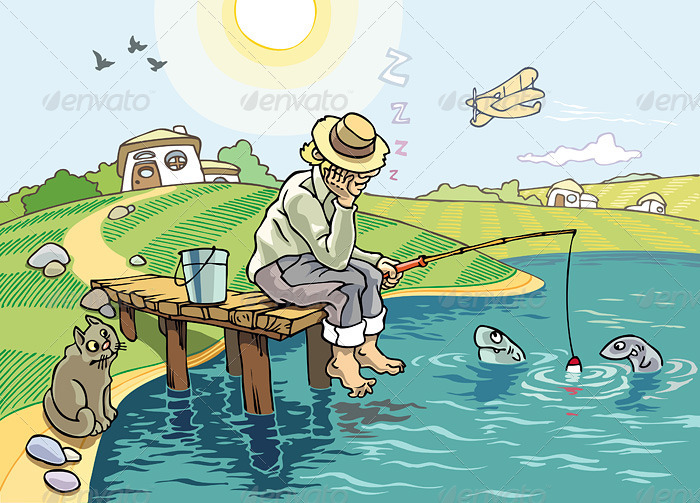 Fishing - Scenes Illustrations