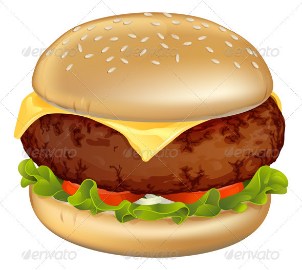 Burger illustration - Food Objects