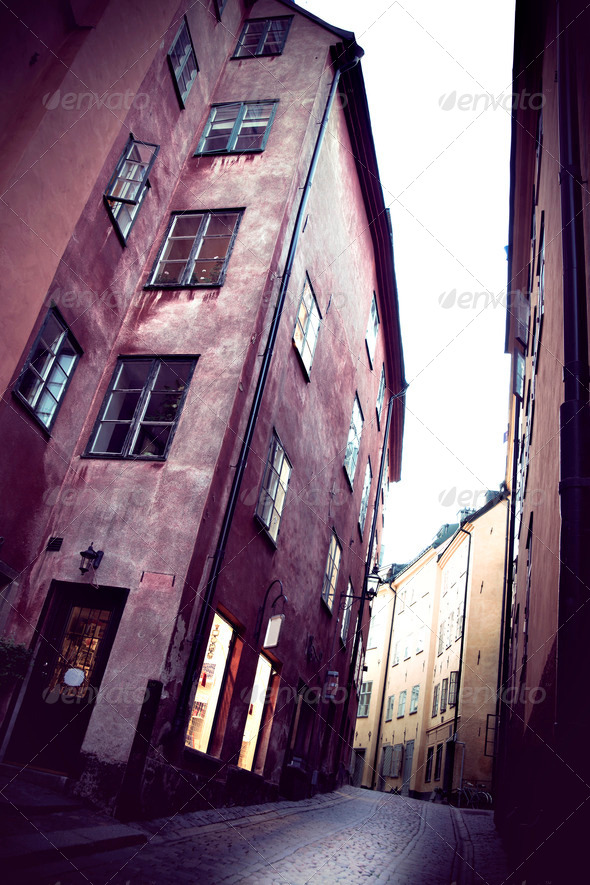 Stockholm old town - Stock Photo - Images