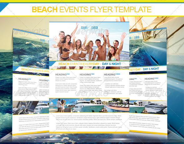 Beach Events Flyer - Holidays Events