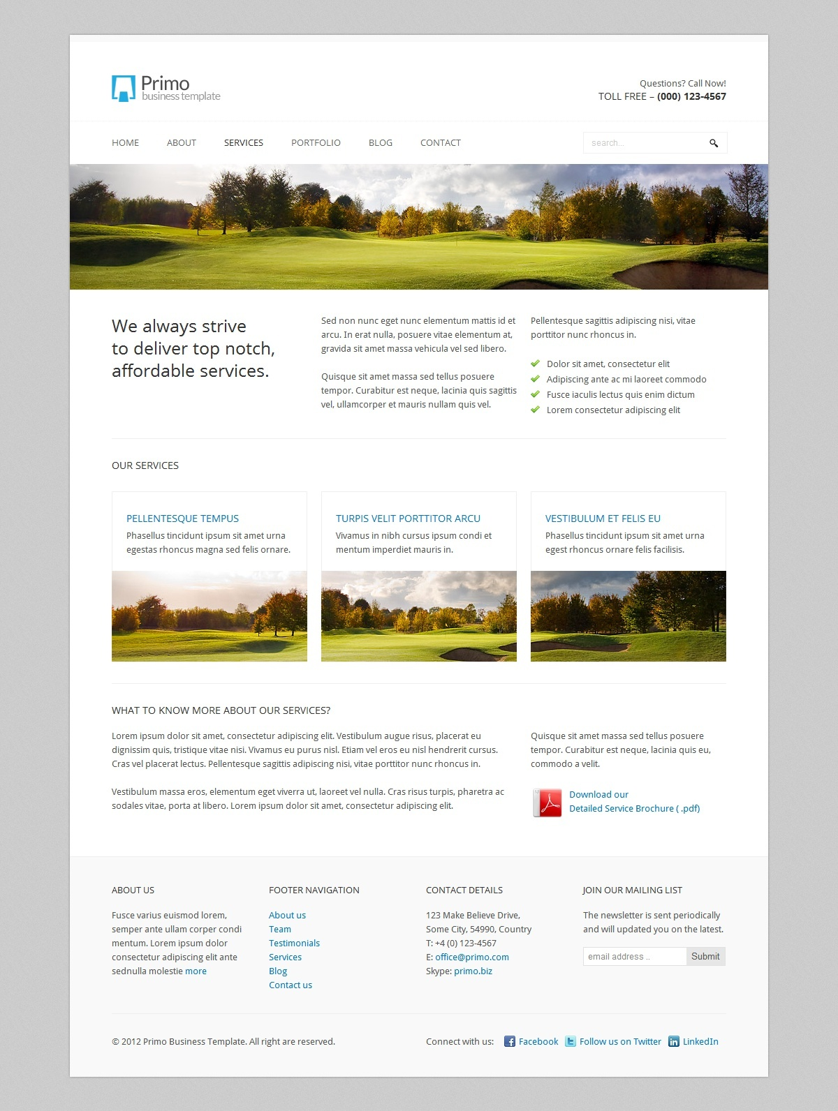 Primo WP - Business / Corporate WordPress Theme