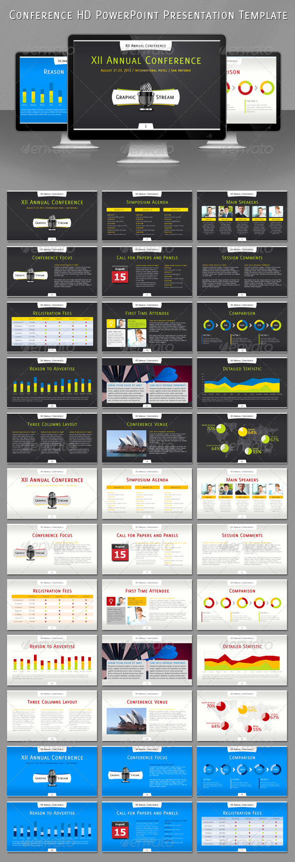 Conference HD PowerPoint Presentation Template - Powerpoint Templates Presentation Templates
