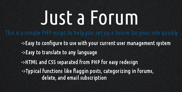 Just a Forum - CodeCanyon Item for Sale