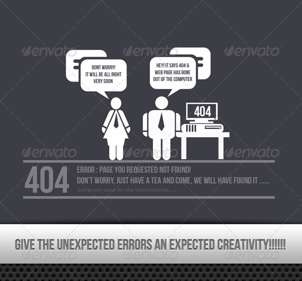 404 Creative Error Found !!!! - 404 Pages Web Elements