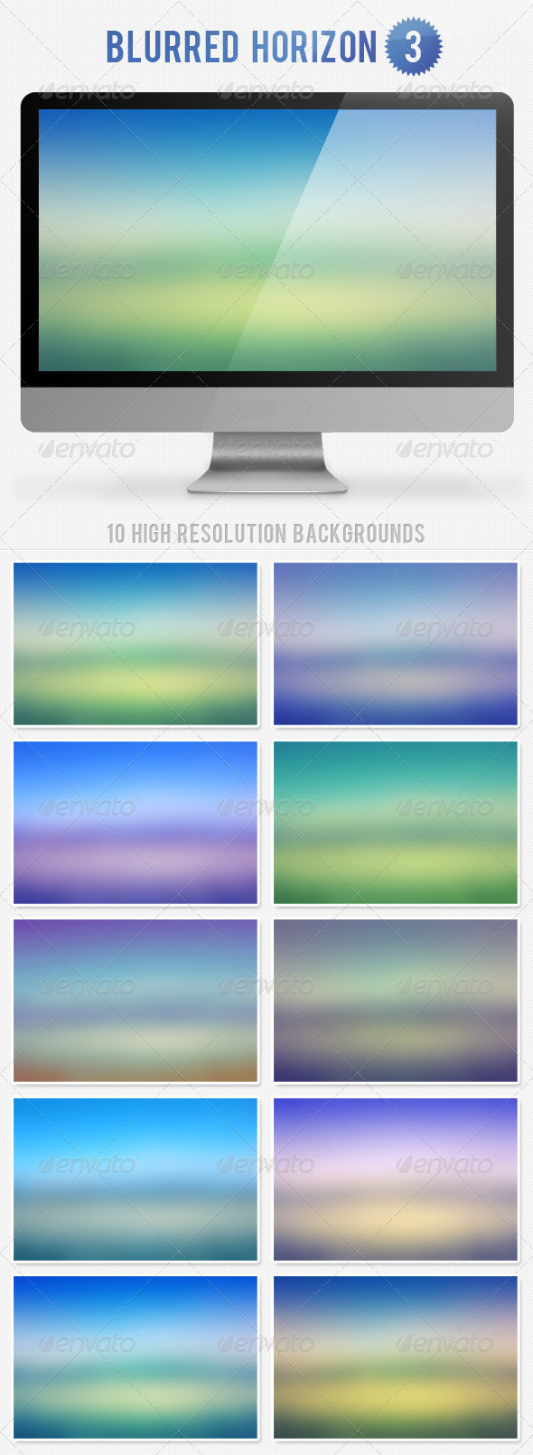 Blurred Horizon Background 3 - Nature Backgrounds