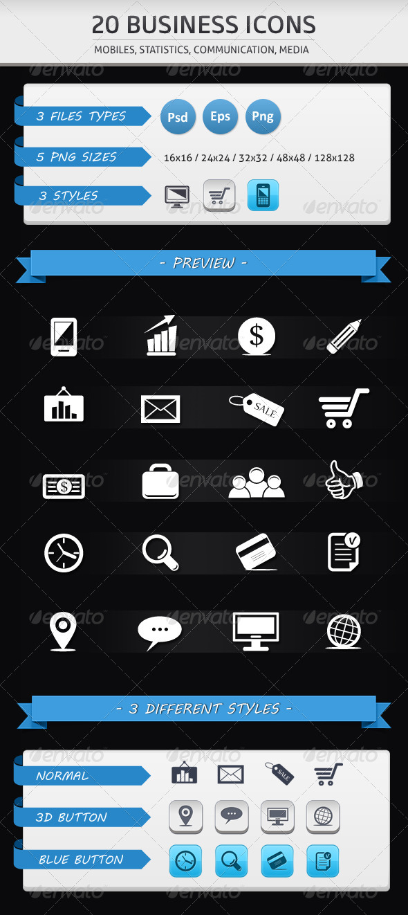 GraphicRiver Business Icons 2670414