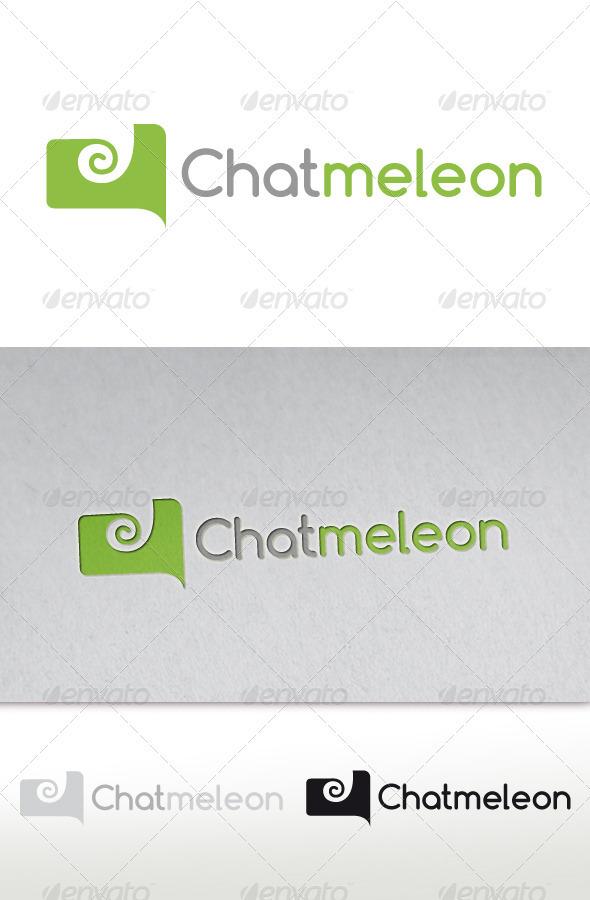 GraphicRiver Chameleon Chat Logo Chatmeleon 2670519