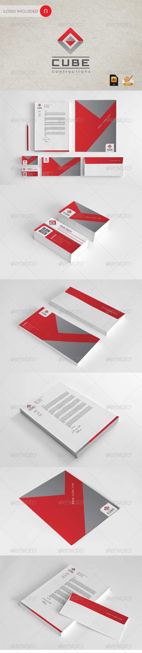 GraphicRiver Stationary & Identity Cube contructions 2671810