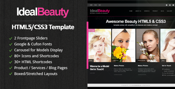 ThemeForest IdealBeauty HTML5 Template 2672092