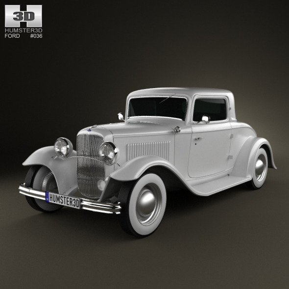 Ford Model B De Luxe Coupe V8 1932  - 3DOcean Item for Sale