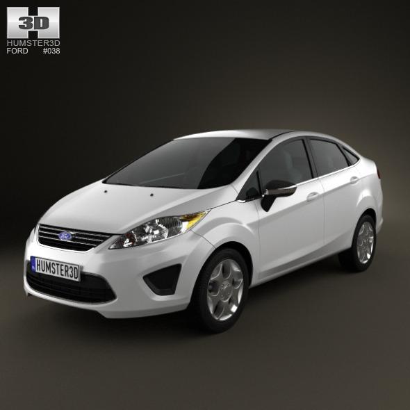 3DOcean Ford Fiesta Sedan 2012 2672686