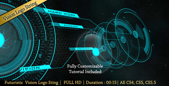 After Effects Project - VideoHive futuristic vision logo string 2675336