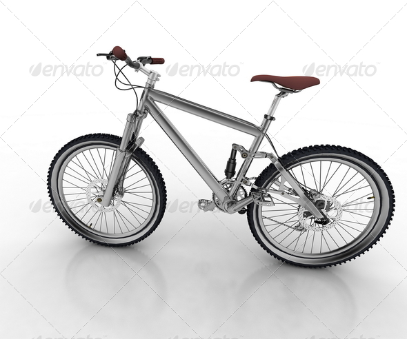 Bicycle isolated on white background - Stock Photo - Images