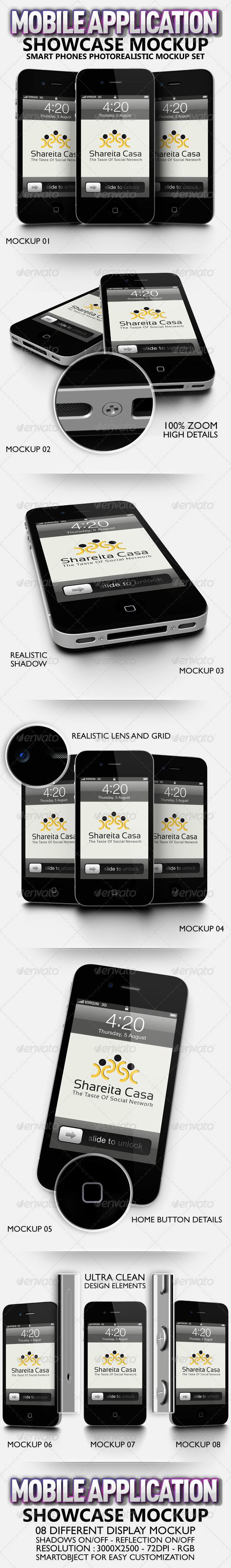 GraphicRiver Mobile Application Showcase Mockup 2675519