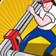 Plumber Worker With Adjustable Wrench Cartoon  - GraphicRiver Item for Sale