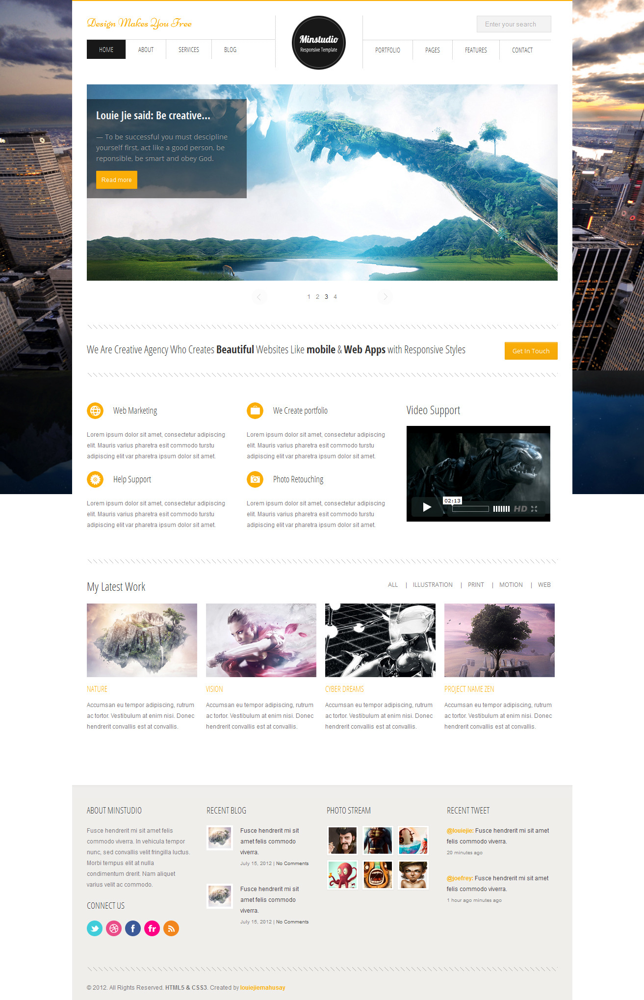 Minstudio - Responsive Minimal &amp; Business Template - 