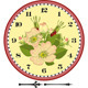 Retro Flower Clock Dial - GraphicRiver Item for Sale