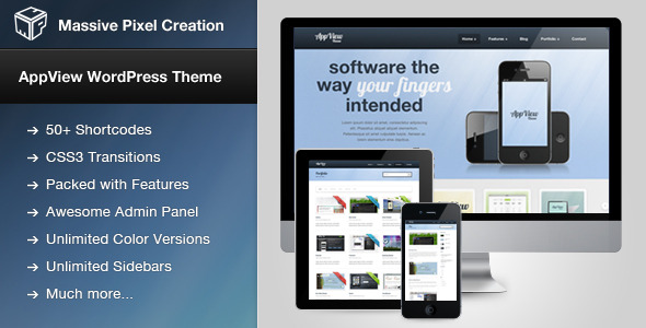 AppView Professional Portfolio WordPress Theme - Screenshot 0 - Theme preview