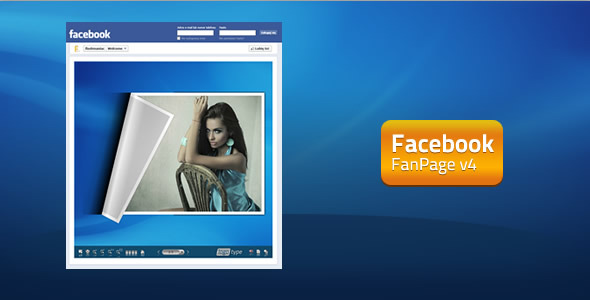 FaceBook FanPage v4 - FlipBook  - ActiveDen Item for Sale