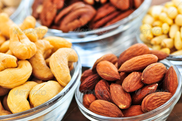 Bowls Of Nuts - Stock Photo - Images