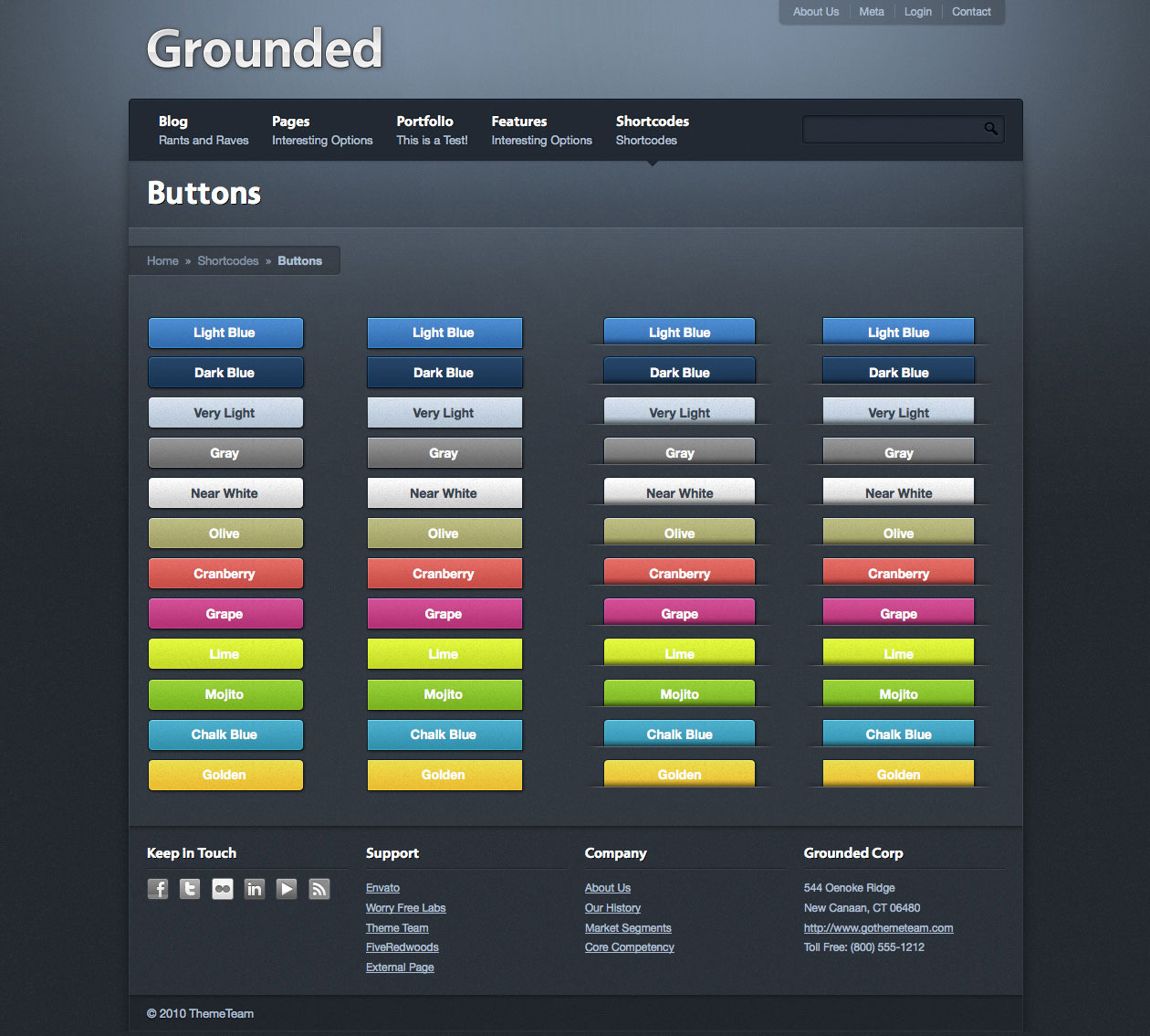 Grounded HTML Theme