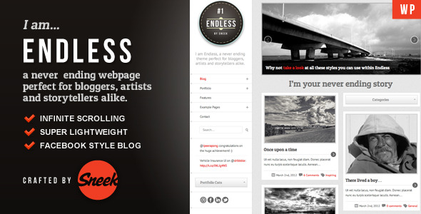 Endless - Infinite scrolling WordPress Theme