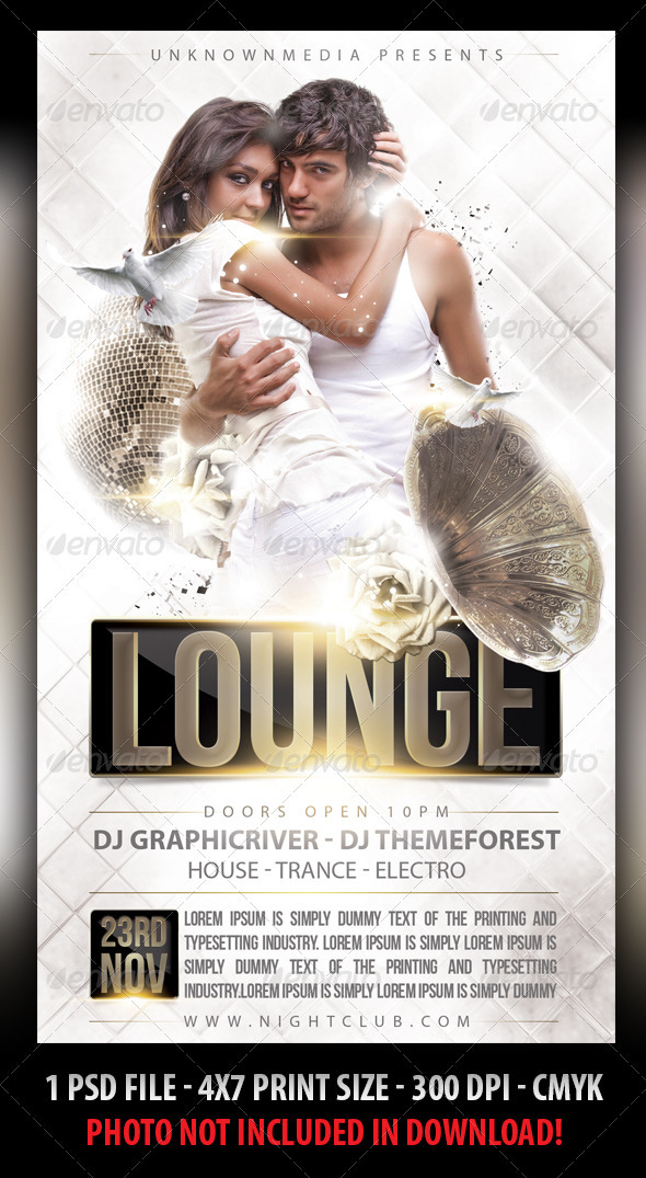 Vip Lounge Party Flyer - Clubs & Parties Events