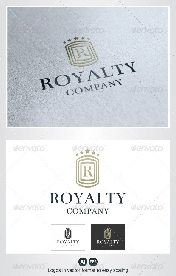 Royalty R Letter Logo - Crests Logo Templates