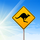 Kangaroo sign on blue sky - GraphicRiver Item for Sale