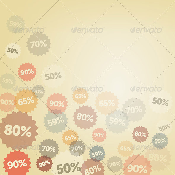 Yellow Discount Background - Business Conceptual