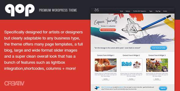 qop - Premium WordPress Theme