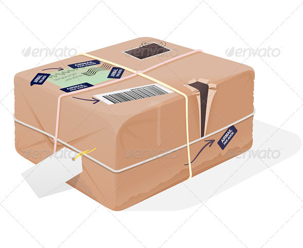 Mail Package Illustration - Objects Vectors