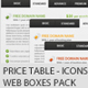 Price TAB table - Web boxes - Icons PACK ! - GraphicRiver Item for Sale