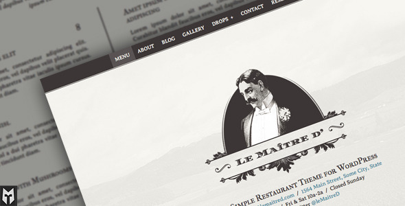 Le Maitre d': Super Simple Restaurant WP Theme - Restaurants & Cafes Entertainment
