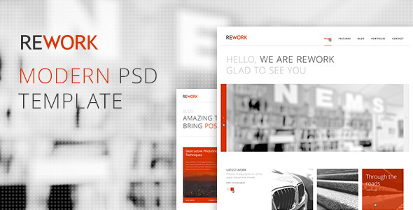 ThemeForest REWORK Modern PSD Template 2680252