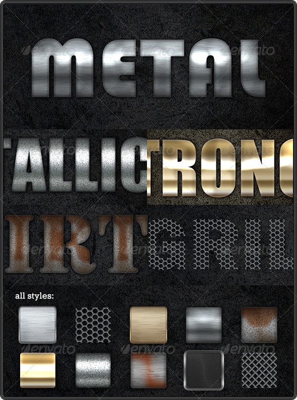 GraphicRiver Industrial Text Styles 157708