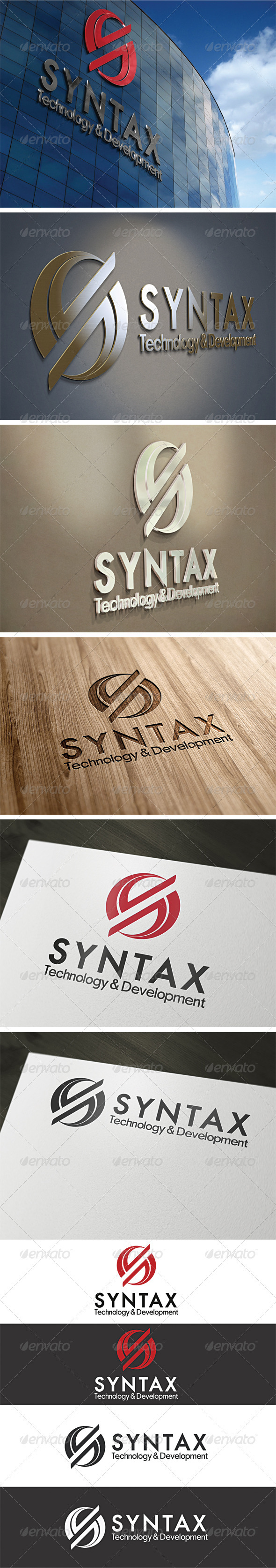 Syntax Logo Template - Vector Abstract
