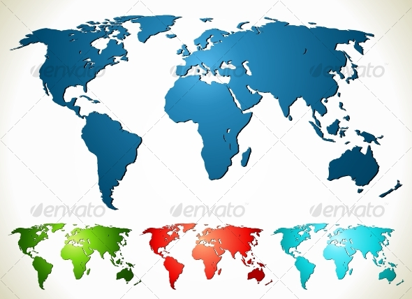 World map - Backgrounds Decorative