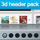 3d website header pack - GraphicRiver Item for Sale