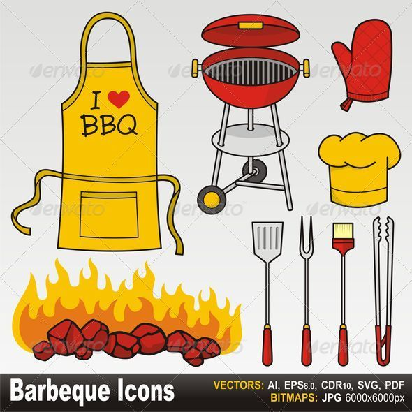 Barbecue icons - Objects Vectors