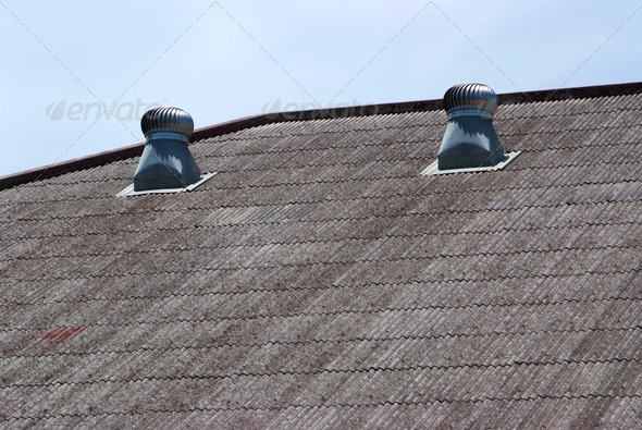 The air vent on the roof of the factory. - Stock Photo - Images