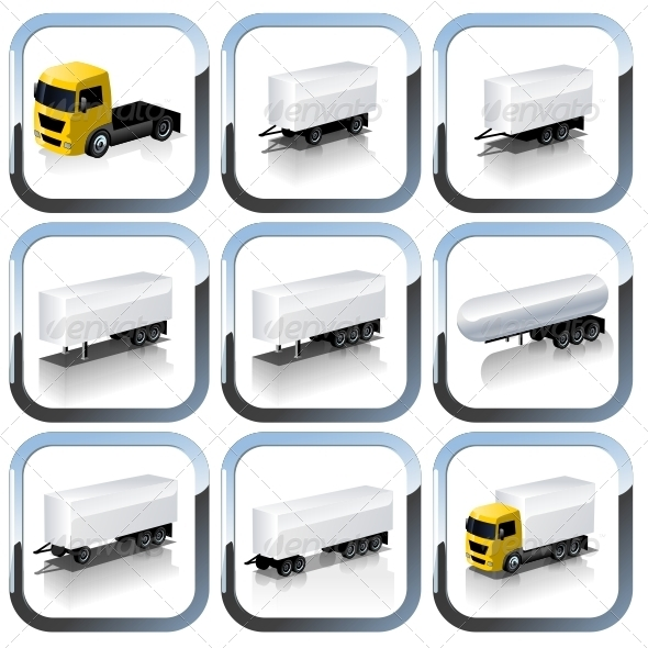 GraphicRiver Vector truck icons set 2683069