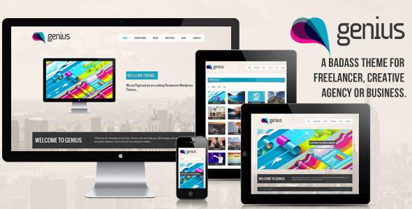 GENIUS - Tema Responsive de Portfolio para Wordpress