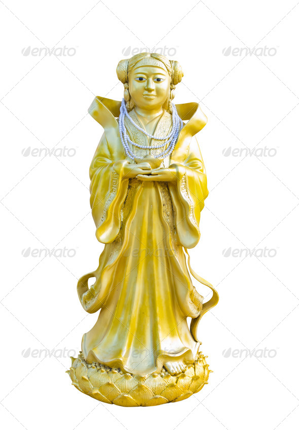 chinese statue at the temple - Stock Photo - Images