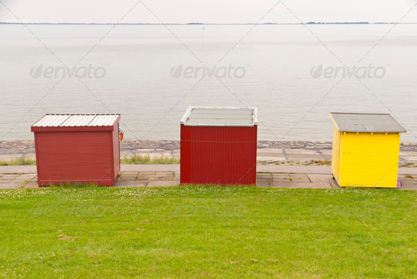 Bathing Huts - Stock Photo - Images