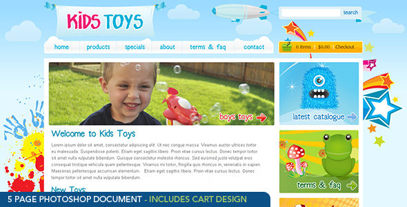 Kids Toys Psd Templates Themeforest
